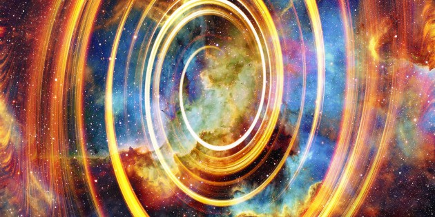 50373883 - nebula, cosmic space and stars with light circle, color cosmic abstract background